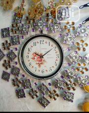 Purple and Silver Tourch Eligant Wall Clock | Home Accessories for sale in Lagos State, Surulere