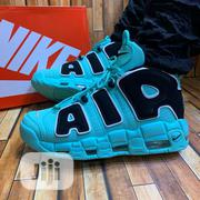 "Nike Air More Uptempo ""Alight Aqua"" Sneakers 