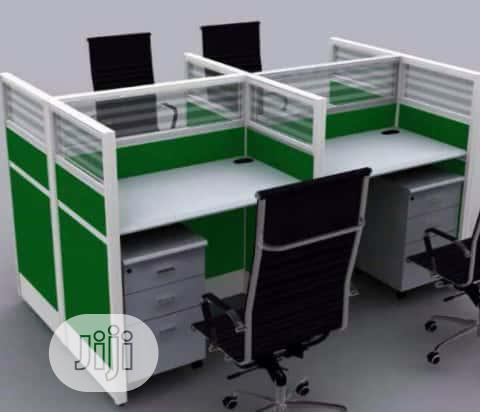 Quality 4-Seater Office Workstation Table