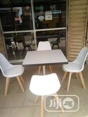 Good Quality Wooden Table With Iron Leg and 4 Fibre Plastic Chairs. | Furniture for sale in Lagos State, Lagos Island
