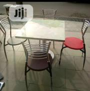 Good Quality Marble Table With Iron Leg, and 4 Chairs | Furniture for sale in Lagos State, Ikoyi