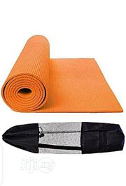 Orange Color Yoga Mat With Carrier Bag | Sports Equipment for sale in Lagos State, Lagos Mainland