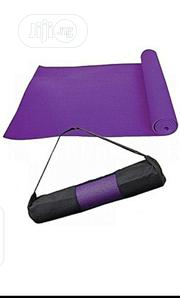 Purple Color Yoga Mat With Carrier Bag | Sports Equipment for sale in Lagos State, Lagos Mainland