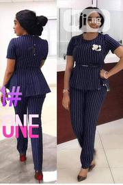 Quality Ladies 2pics Cooperate Peplon Blouse & Trouser | Clothing for sale in Lagos State, Gbagada