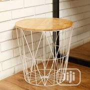 Wooden Top Table With Wire Side Stool | Home Accessories for sale in Lagos State, Lagos Island