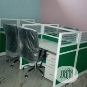 Green Four Man Office Workstation | Furniture for sale in Lagos State, Ikeja