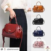 Safari Glossy Leather Bag | Bags for sale in Lagos State, Lagos Mainland