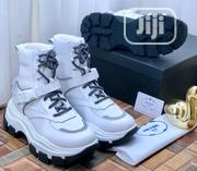 Prada White High_top Sued Men's Sneakers   Shoes for sale in Lagos State, Lagos Island
