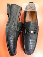 Check Out This Black Ferragamo Leather Men's Shoe. | Shoes for sale in Lagos State, Lagos Island