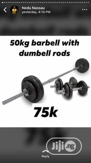 50kg Weight Set and Long Bar | Sports Equipment for sale in Abuja (FCT) State, Gwagwalada