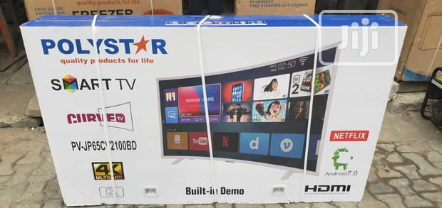 Polystar 65 Inches Smart CURVED LED TV