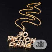 30BG Stainless Steel Gold Plated Chain and Pendant | Jewelry for sale in Lagos State, Surulere