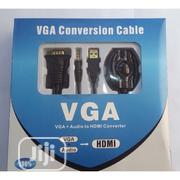 VGA Conversion Cable -VGA +Audio TO HDMI Converter | Accessories & Supplies for Electronics for sale in Lagos State, Ikeja