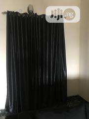 Black Silk Ring Window Curtains | Home Accessories for sale in Rivers State, Port-Harcourt