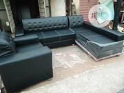 Italian Leather L Shape Sofa | Furniture for sale in Lagos State, Lekki Phase 1