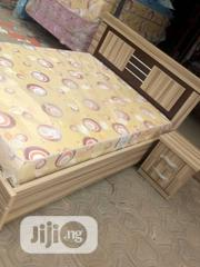 4×6 Designed Bed Frame,With Quality Mouka Mattress | Furniture for sale in Lagos State, Lekki Phase 1