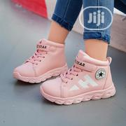Girls Pink Hi-top Sneakers | Children's Shoes for sale in Lagos State, Surulere