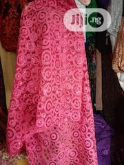 Fushia Pink Sequenced Sample Lace Fabric | Clothing for sale in Lagos State, Ikoyi