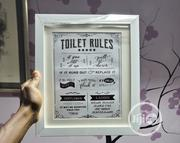 Toilet Rules Frame | Home Accessories for sale in Lagos State, Victoria Island