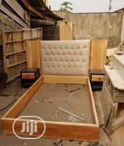 Wooden Bed With Leather Padding | Furniture for sale in Lagos State, Ajah