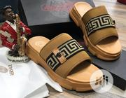 Versace Brown Catapillar Sole Palm Slippers | Shoes for sale in Lagos State, Ojo