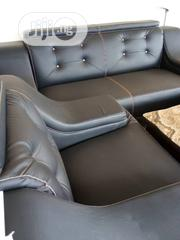 Grey Leather Sofa By 7 Seaters | Furniture for sale in Lagos State, Lekki Phase 1