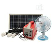 Bts Energy Solar Home Lighting System 030W+ AC Adapter+Fan+ Fm Radio | Solar Energy for sale in Enugu State, Enugu