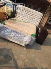 6x6 Upholstery Bedframe and Imported Mattress | Furniture for sale in Lagos State, Ojo