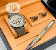 Montblanc Chronograph Silver Wrist Watch/Pen And Cufflinks | Watches for sale in Lagos State, Lagos Island