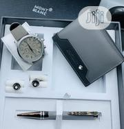 Montblanc Chronograph Silver Leather Watch/Wallet /Pen and Cufflinks | Watches for sale in Lagos State, Lagos Island