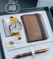 Montblanc Chronograph Rose Gold Watch/Wallet/Pen and Cufflinks | Watches for sale in Lagos State, Lagos Island