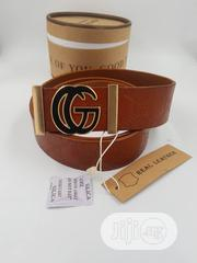 GUCCI, Men's, Real Leather Belt | Clothing Accessories for sale in Lagos State, Lagos Island