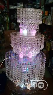 Wedding Cake Stand Three Tiers Crystal Cangalia With Led | Home Accessories for sale in Lagos State, Ikeja