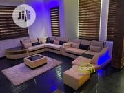 Cream U Shape Sofa With LED Lights | Furniture for sale in Lagos State, Gbagada