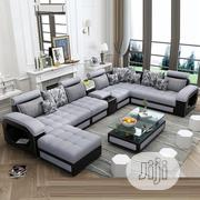 Luxury Moden U Shaped Leather Fabric Sofa | Furniture for sale in Lagos State, Ikoyi