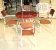 Super Quality Marble Round Table With 4 Chairs | Furniture for sale in Rivers State, Port-Harcourt