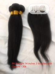 14 Inches Straight Human Hair With Closure   Hair Beauty for sale in Abuja (FCT) State, Gwarinpa