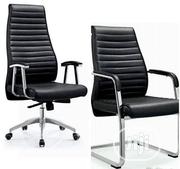 Original Leather Reception Office Chair | Furniture for sale in Lagos State, Ojo
