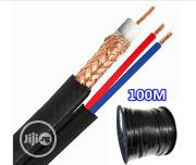 100 Meters Shotgun RG59 Coaxial Video & 2 DC Wire Power Cable CCTV   Accessories & Supplies for Electronics for sale in Lagos State, Ikeja