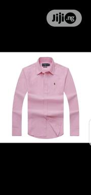 Ralph Lauren Plain Packet Shirt Pink Color Original | Clothing for sale in Lagos State, Surulere