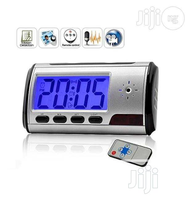 Archive: Multi-function Table Clock Video And Audio Recording Spy Camera