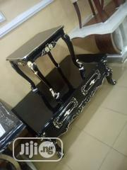 Wooden Royal Center Table With 2 Side Stools | Furniture for sale in Lagos State, Ojo