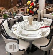A Set Of Round Marble Dining Table With 6 Chairs   Furniture for sale in Lagos State, Ojo