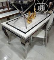 A Set of Marble Dining With 6 Seaters Versace Top | Furniture for sale in Lagos State, Ojo