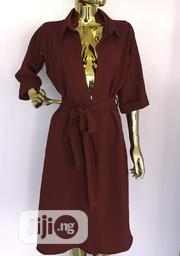 Brown Buttoned Down Dress | Clothing for sale in Rivers State, Port-Harcourt