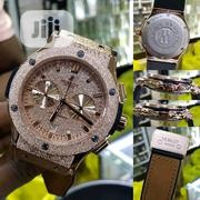 Hublot Chronograph Gold and Leather Watch | Watches for sale in Delta State, Uvwie