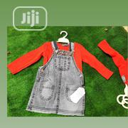 Red Longsleeve Top and Denim Dungarees | Children's Clothing for sale in Lagos State, Lagos Mainland