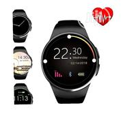 Smart Watch KW18 Health Functions -black&Gold | Smart Watches & Trackers for sale in Lagos State, Ikeja