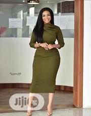 Women's New Pile Pile Collar High Waist Dress | Clothing for sale in Rivers State, Port-Harcourt