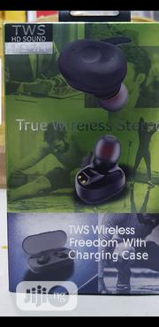 True Twin Wireless Earbuds Double (With Charging Case)-black | Headphones for sale in Lagos State, Ikeja